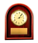 12x 15 Arch Framed Wall ClockArched Solid Cherry Wood Clock combined with the brass personalization plate is a traditional combination. Individually boxed. Call 800-830-3386 to buy now!