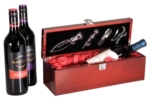 Afton Wine Box with AccessoriesA rosewood color with the high gloss finish of piano wood this is the perfect recognition for the top honor. Call 800-830-3386 to buy now!
