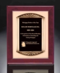 14 x 17 Rosewood Frame Plaque with Casting Piano finish, Rosewood stained, antique bronze finish frame casting with black brass engraving plate on brush gold metal background. Heavy lacquer finish. Includes lettering & logo.Individually boxed.Call 800-830-3386 to buy now!