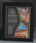 8 x 10 Autumn Stain Glass Effect On Matte Black