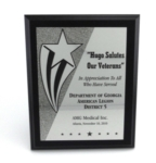 Full Plate PlaqueRich yet economical marbleized ebony-finished award with elegant printed copy on gold-tone of engraving plate shows a touch of class that will be loved by all who receive it. Add your logo or custom graphic to complete the presentation. Plaque available in standard Cherry finish upon request.