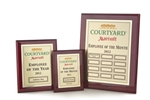 Rosewood Piano Finish MRP (Monthly Recognition Program)1 Master Plaque, 12 Individual Monthly Plaques, and 1 Yearly Winners 