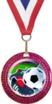 2-3/4 Pink Glitter Medal with 2 Activity Insert    Your  choice of stock insert or your custom logo.Special Order. Ask your salesperson for details.Call 800-830-3386 to buy now!