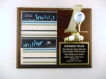 10.5 X 13 Cherrywood Golf Plaque With Plexiglass & FigureNumber one figure with golf ball holder hand-mounted on a cherrywood finished board with a plaque and plexiglass for your scorecard. Call 800-830-3386 to buy now!