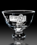 Lead Free Crystal Footed Revere Bowl  Etch your logo or message on this fine Crystal bowl. Available in 7.5 and 8.5 diameter.