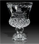 11 Lead Crystal Manchester Trophy Vase