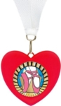 3.5 3D Cast Heart Medal with Activity Insert   Your  choice of stock insert or your custom logo. Available in Red (TBMD-058AR) or Pink (TBMD-058AP).Special Order. Ask your salesperson for details.Call 800-830-3386 to buy now!