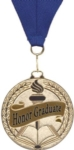 Gold Scholastic Excellence Medal with Ribbon   Made of cast metal. Your  choice of Valedictorian,Salutatorian, or Honor Graduate.Special Order. Ask your salesperson for details.Call 800-830-3386 to buy now!