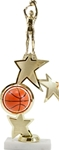 Basketball Sport Ball Spinner RiserUnique star riser with sport ball that spins. Add your choice of figure. Plate on base can be personalized.