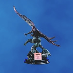 24 Bronze Finish Flying Eagle on BaseThis finely detailed sculptured 24 Antique Copper Finished Eagle is perched on an Ebony presentation base. Personalize with matching copper plate. 