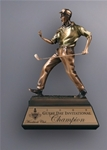 12 Bronze Resin Celebration GolferThis Cast Resin Golfer has an antique finish and is very detailed. A metal tone plate is  provided on the base for personalization.  Call 800-830-3386 to buy now!