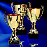 Gold or Silver Metal Italian Trophy CupThis Italian-style Gold or Silver Metal Trophy Cup is an ideal award for golf, tennis, or other sports achievements.Solid Black Marble Base provides sound footing for this truly traditional engraved award.