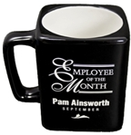 Coachs Cup, BlackThis 11 ounce Ceramic Mug is a great coachs gift. Personalization is displayed in contrasting white copy with precision Laser engraving. 