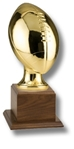 Football Replica Sport Ball AwardThis gold metalized  Official-Size replica is displayed on a walnut base. The engraving  plate is supplied and marked to acknowledge your top performers.Call 800-830-3386 to buy now!