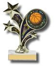 Motion Series Figurine on Marble Base TrophyThis NEW award displays STARS IN MOTION. The motion is created when you move the trophy from side to side to activate the lenticular motion insert. Pretty Cool! The gold-tone multi-star figurine is presented upon a solid marble base. The 2 diameter activity insert allows you to customize the award to your event. Choose from a large variety of stock activity insert designs or customize it with your organizations logo. Available in a multitude of stock column color options. Call 800-830-3386 to buy now!
