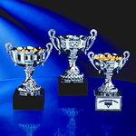 Classic Elegance and Timeless Recognition is accomplished with this Italian style Gold Lined Silver Metal Trophy Cup. Solid Black Marble Base provides sound footing for this truly traditional engraved award.Additional Charges For Engraving and Logos