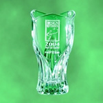 Each Crystal Ancona Vase is Hand-Blown of pure 24 percent Lead Crystal. Because an expert craftsman creates each piece individually no two are exactly alike. This dazzling Tulip Shaped crystal award deep etched with a company logo and award title is a perfect way to honor exceptional achievement.